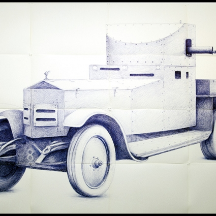 RR (ROLLS-ROYCE Armoured Car (with famous statue added) in service since the end of WW I, this model was used to patrol main cities of the colonial empire until the end of WW II),