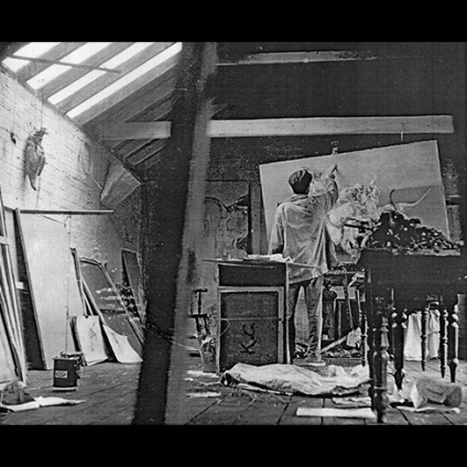 Keith Cunningham in his studio